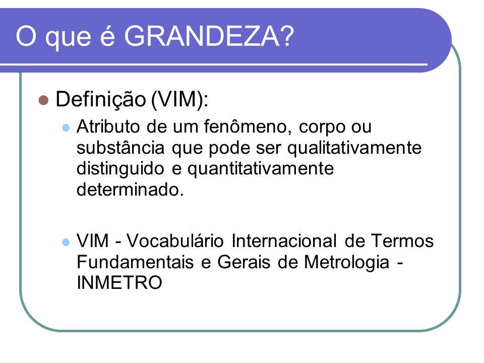 O que é GRANDEZA Definição (VIM):