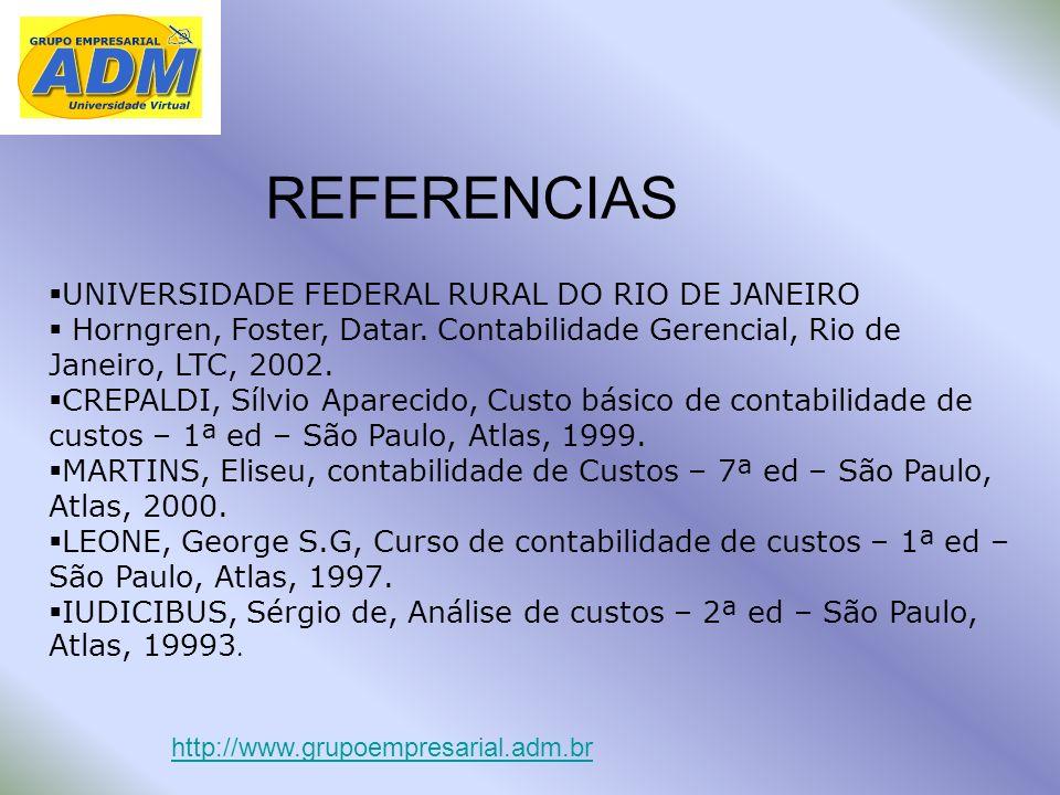 REFERENCIAS UNIVERSIDADE FEDERAL RURAL DO RIO DE JANEIRO