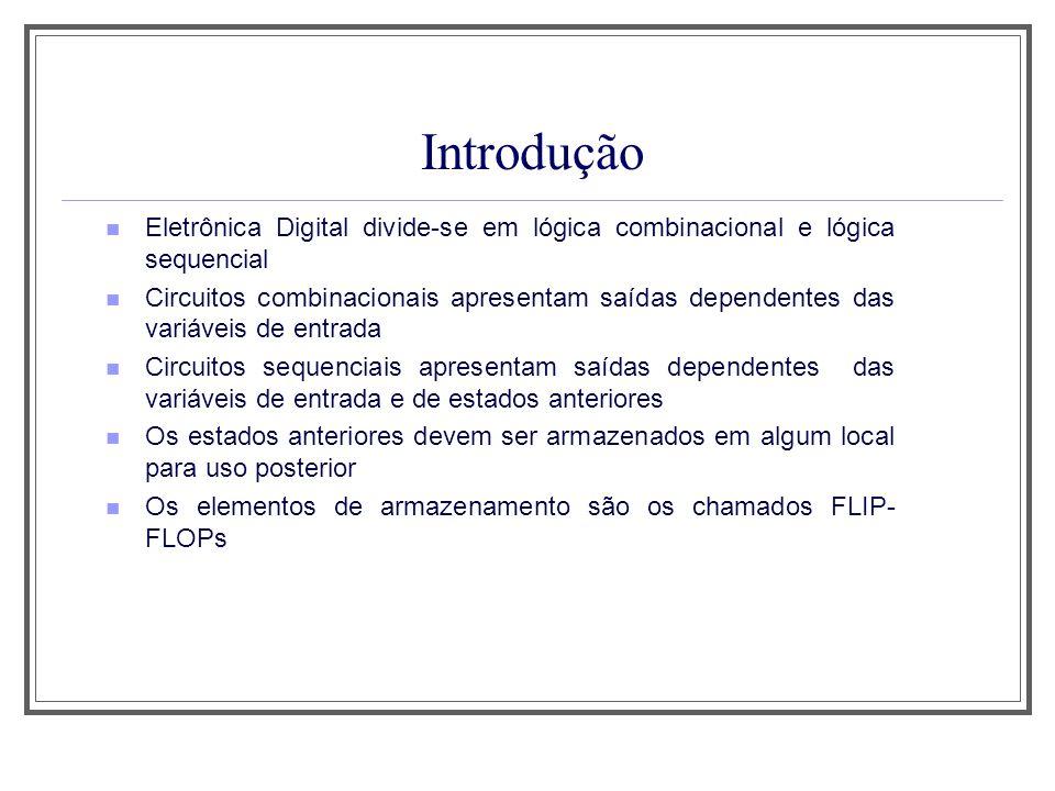 Aula 1 Introdução. Eletrônica Digital divide-se em lógica combinacional e lógica sequencial.