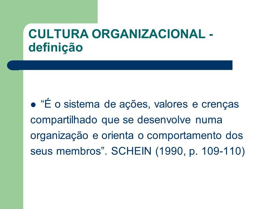 CULTURA ORGANIZACIONAL - definição