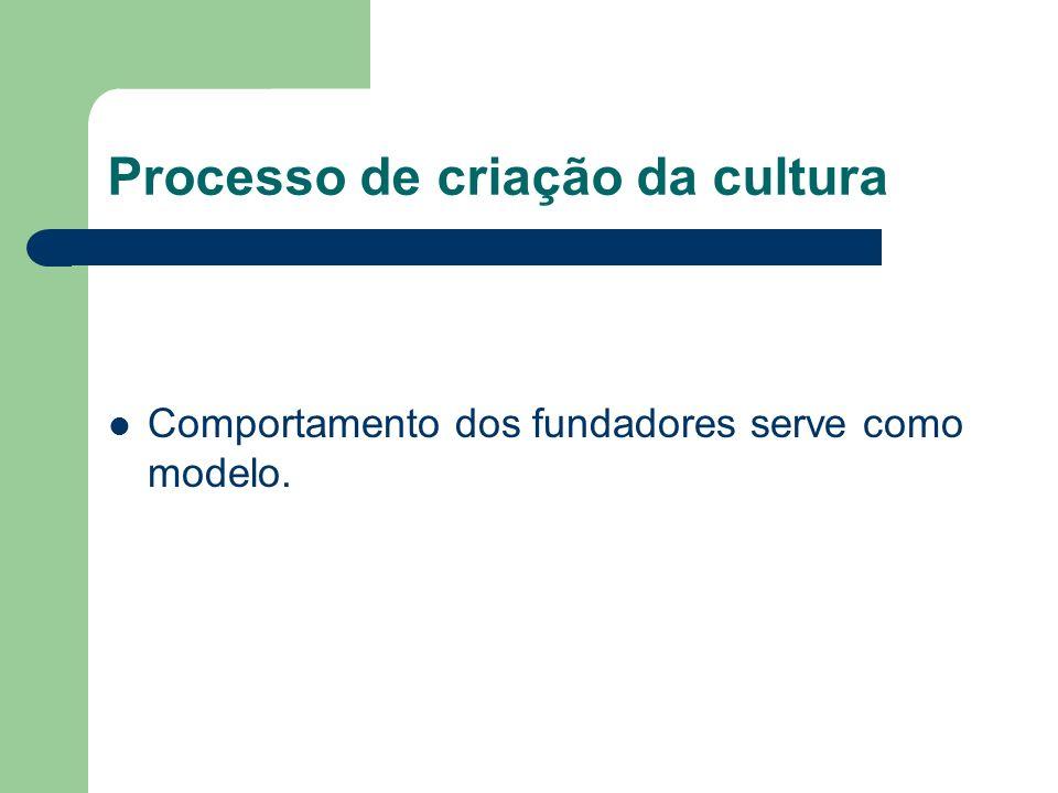 Processo de criação da cultura