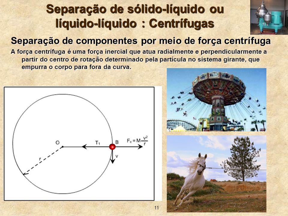 Separação de sólido-líquido ou líquido-líquido : Centrífugas