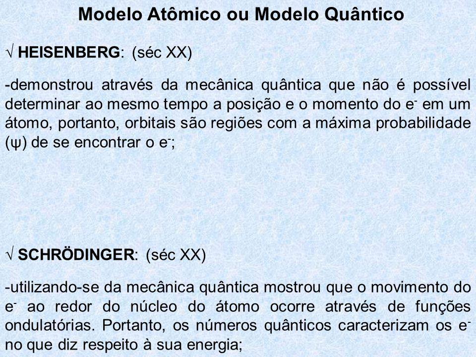 Modelo Atômico ou Modelo Quântico