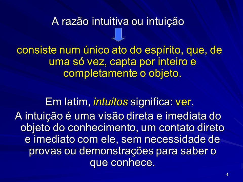A razão intuitiva ou intuição