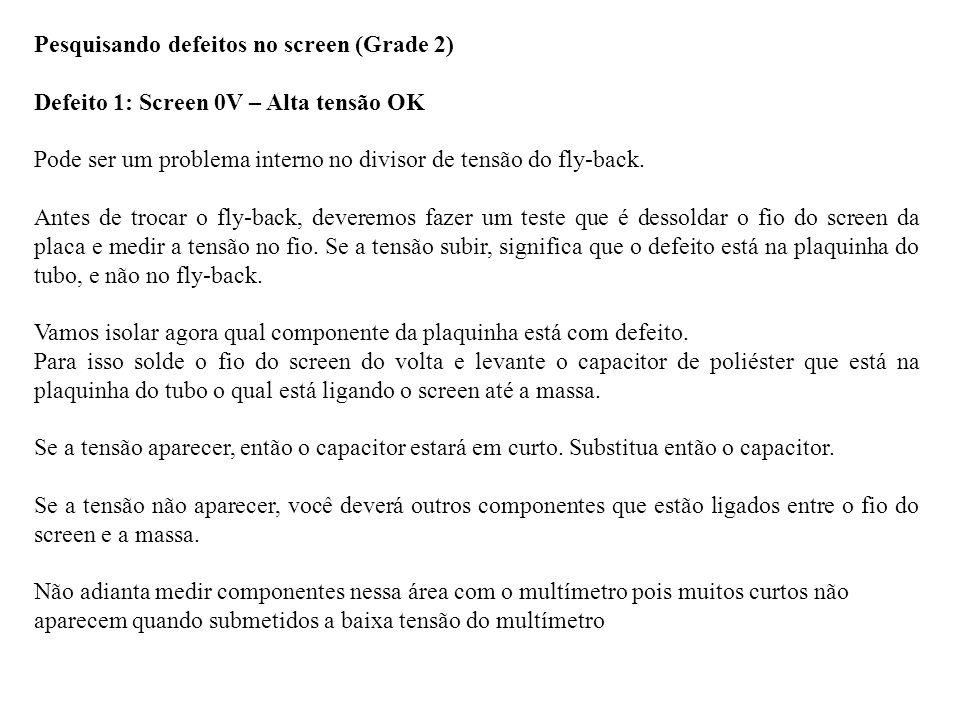 Pesquisando defeitos no screen (Grade 2)