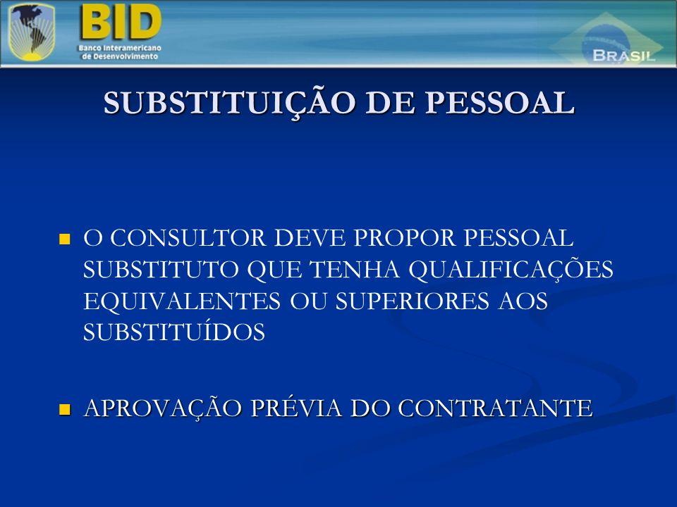 SUBSTITUIÇÃO DE PESSOAL