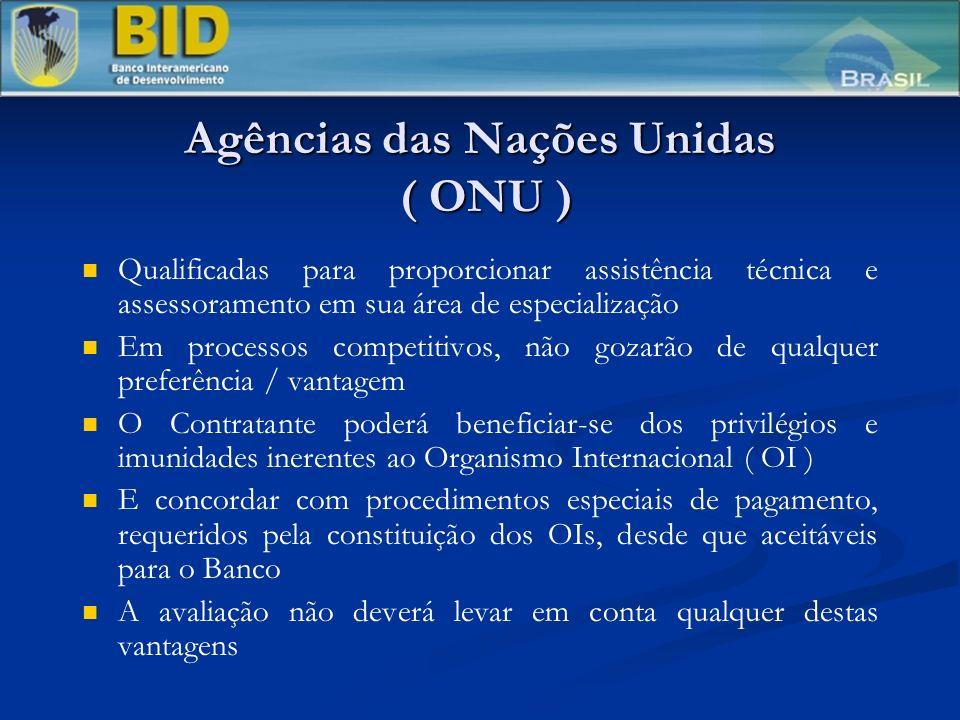 Agências das Nações Unidas ( ONU )
