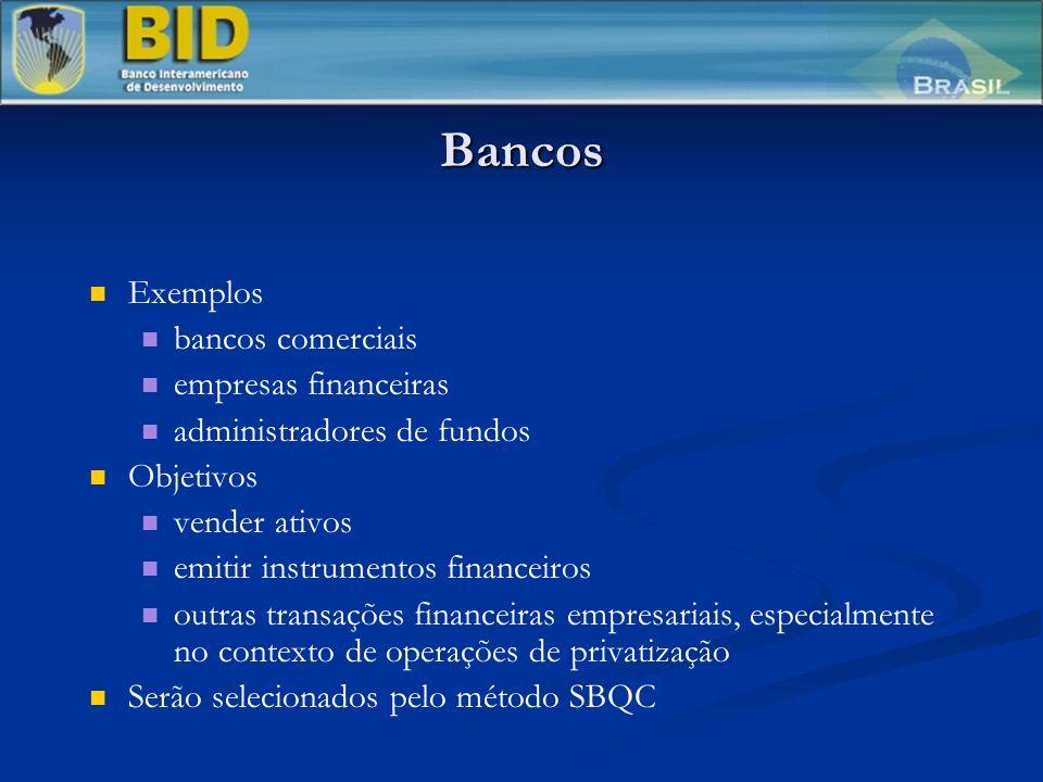 Bancos Exemplos bancos comerciais empresas financeiras
