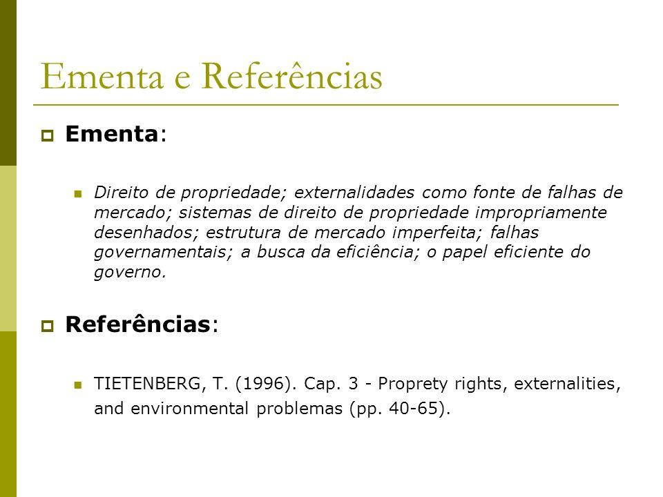 Ementa e Referências Ementa: Referências: