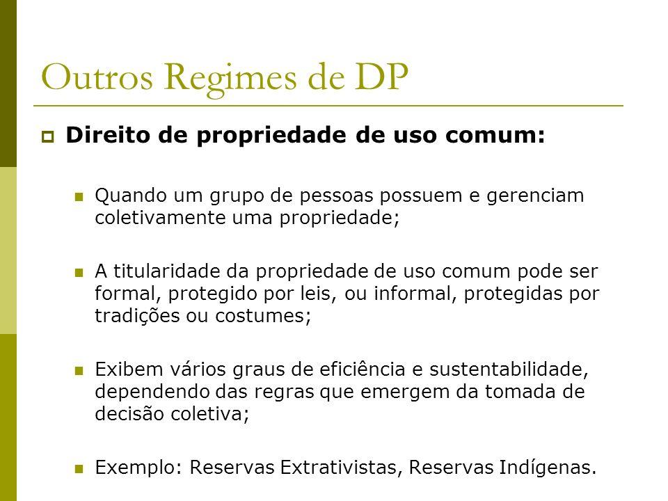 Outros Regimes de DP Direito de propriedade de uso comum: