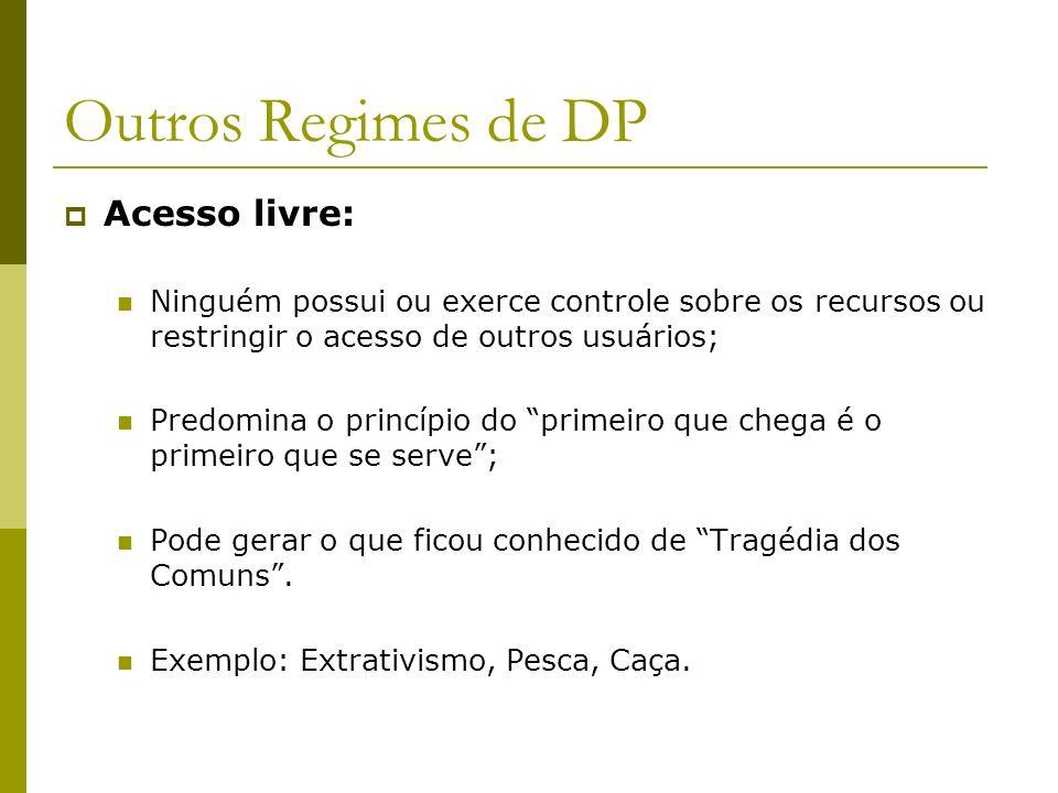 Outros Regimes de DP Acesso livre: