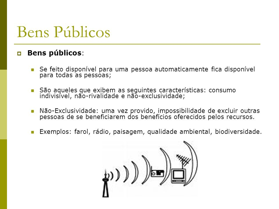 Bens Públicos Bens públicos: