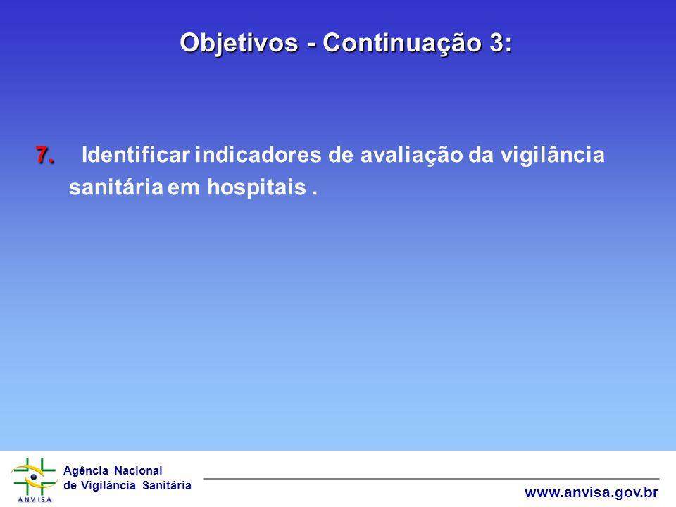Objetivos - Continuação 3:
