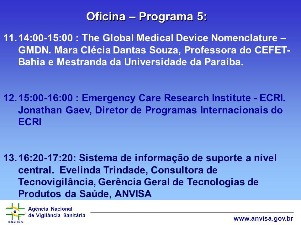 Oficina – Programa 5: