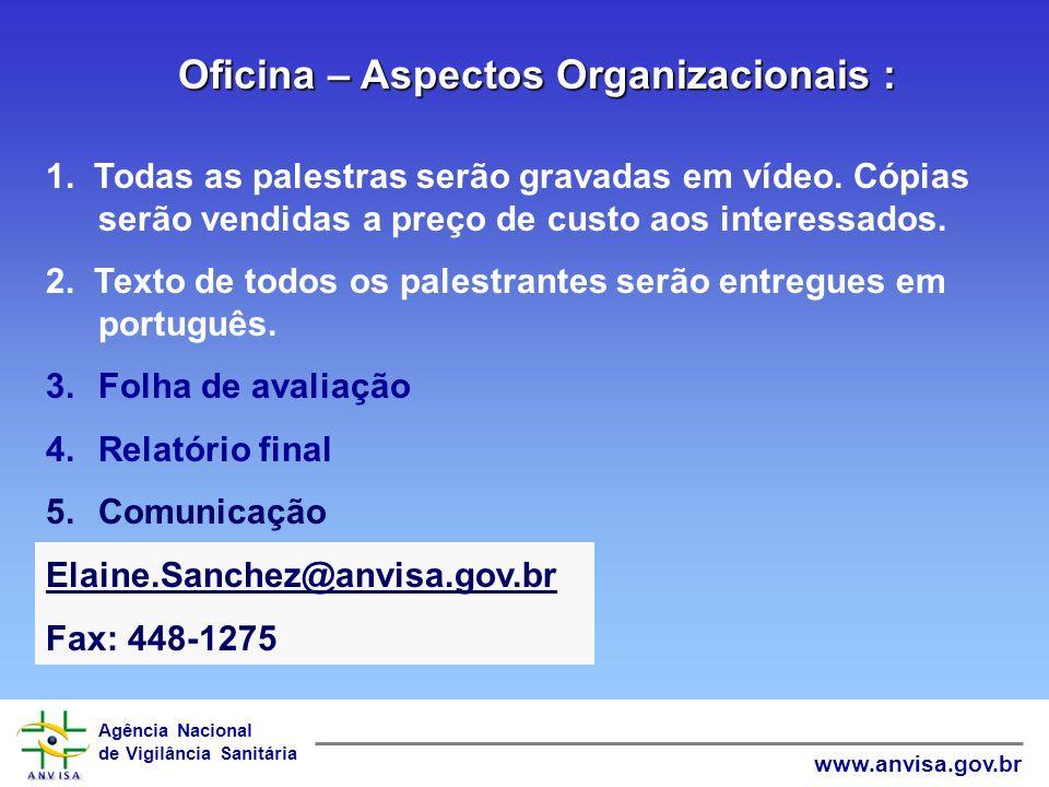 Oficina – Aspectos Organizacionais :
