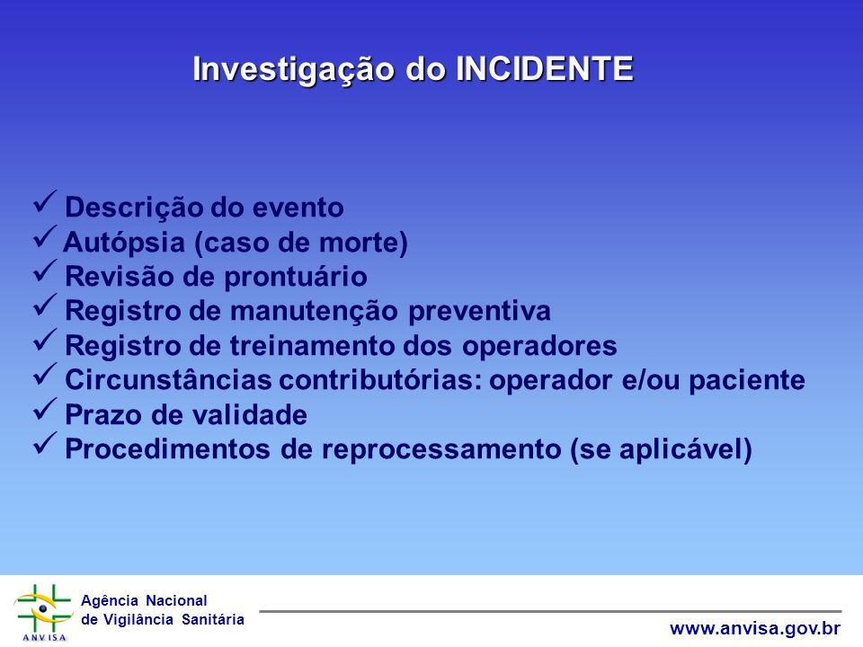 Investigação do INCIDENTE