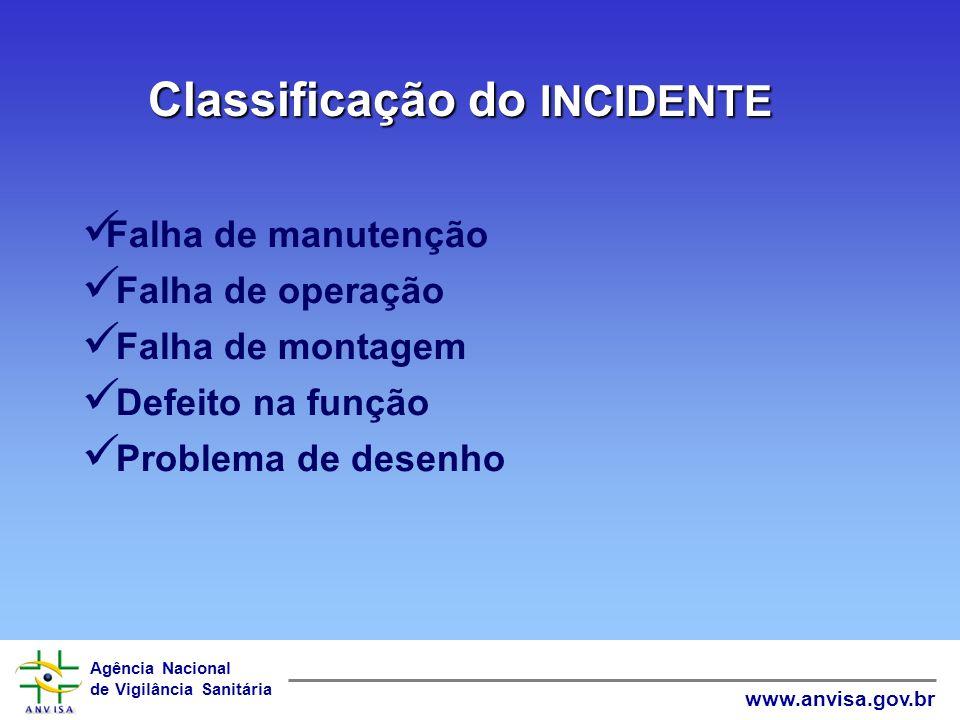 Classificação do INCIDENTE