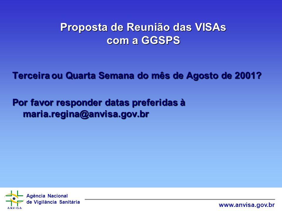 Proposta de Reunião das VISAs com a GGSPS