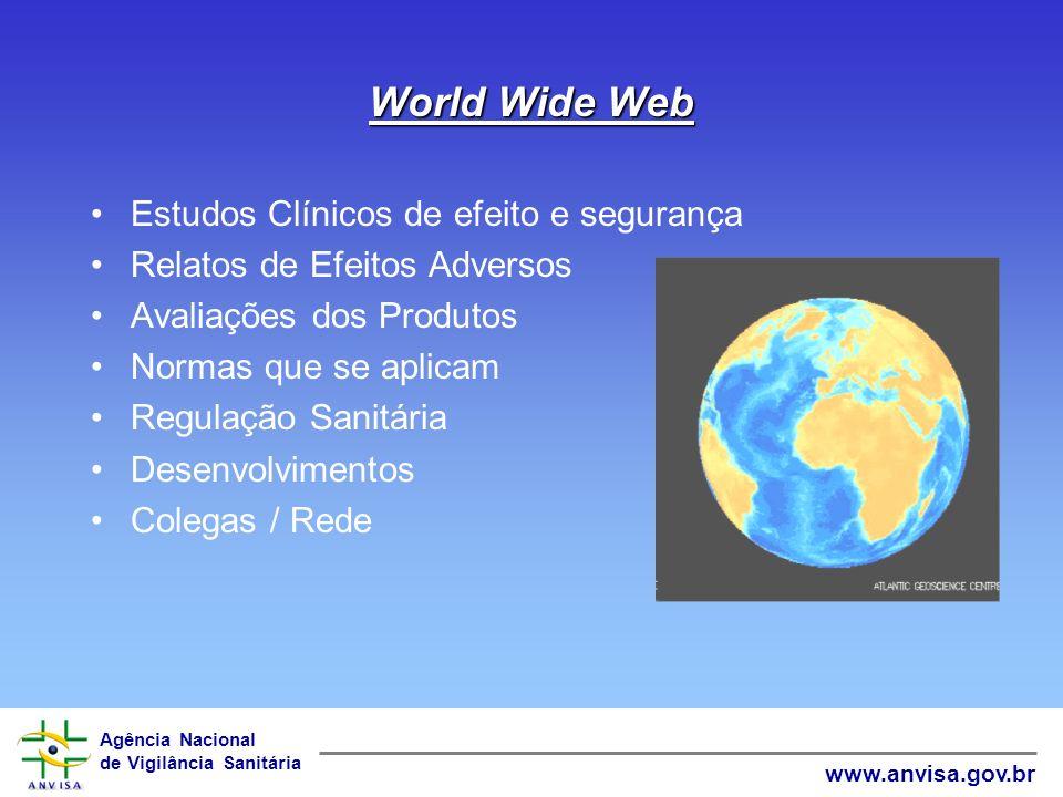 World Wide Web Estudos Clínicos de efeito e segurança