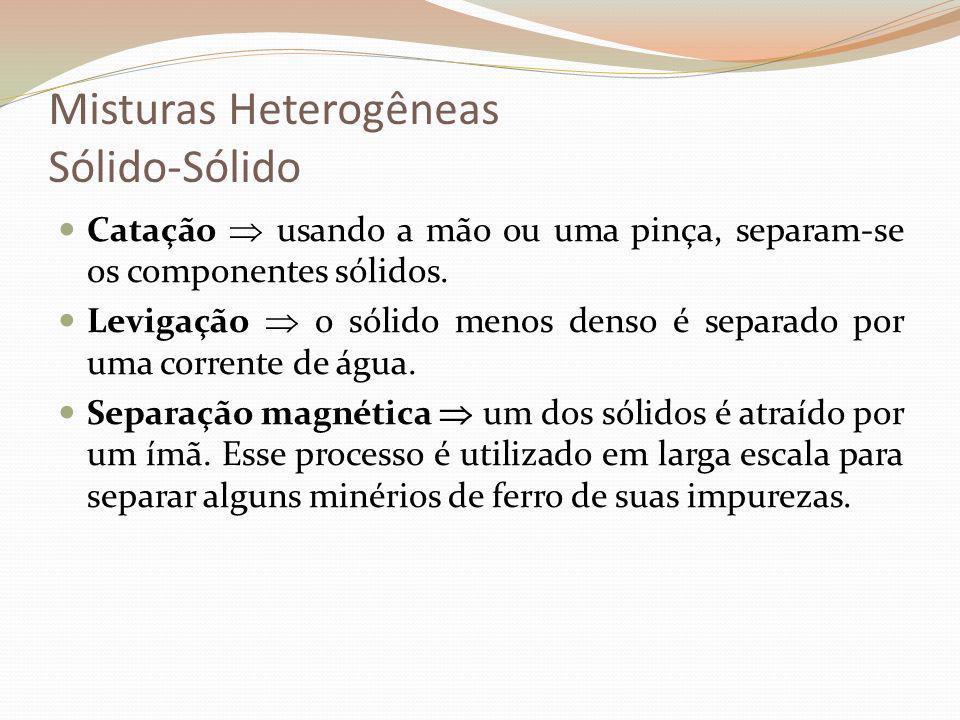 Misturas Heterogêneas Sólido-Sólido