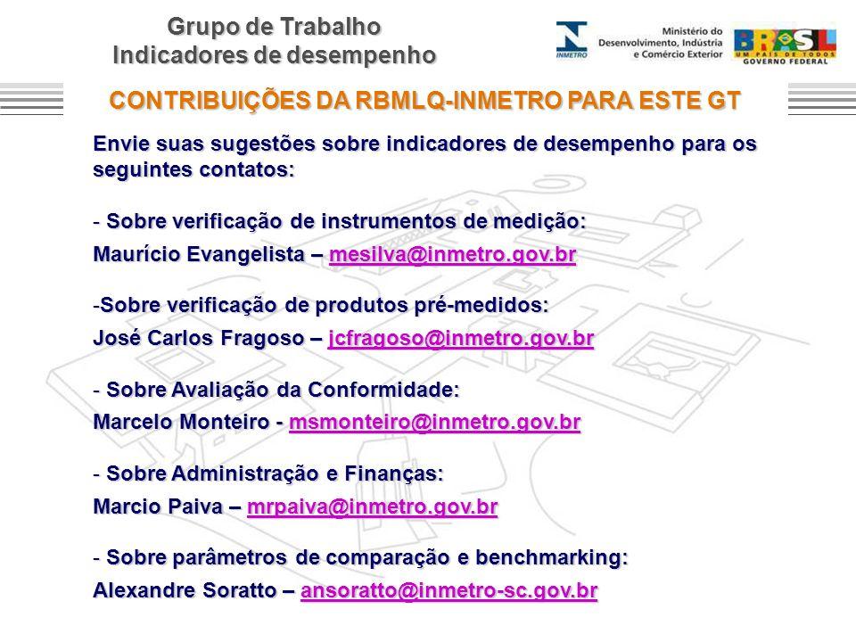 CONTRIBUIÇÕES DA RBMLQ-INMETRO PARA ESTE GT