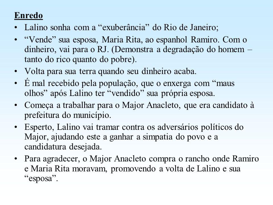 Enredo Lalino sonha com a exuberância do Rio de Janeiro;