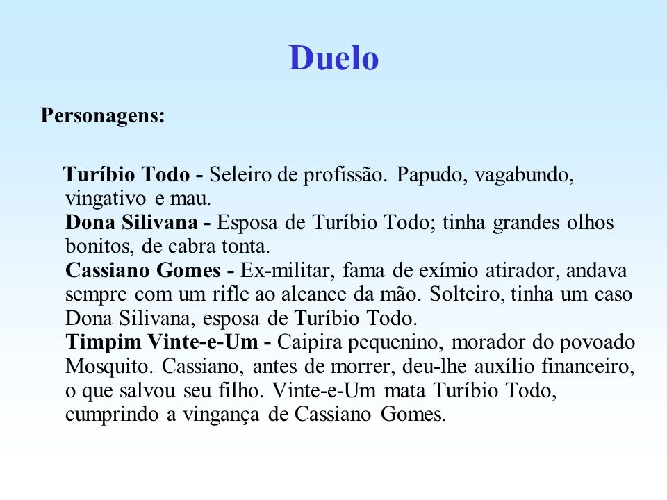Duelo Personagens: