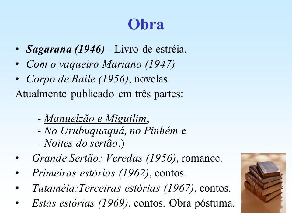Obra Sagarana (1946) - Livro de estréia. Com o vaqueiro Mariano (1947)