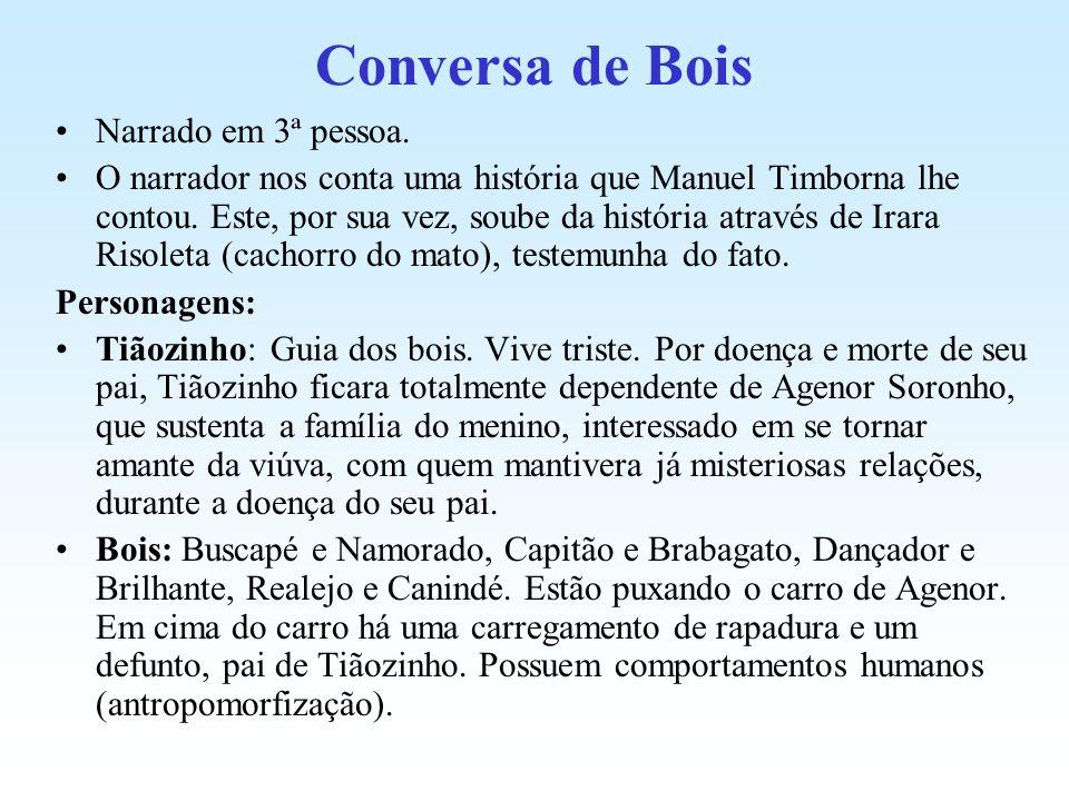 Conversa de Bois Narrado em 3ª pessoa.