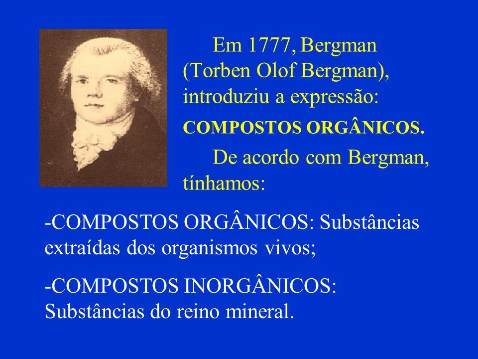 Em 1777, Bergman (Torben Olof Bergman), introduziu a expressão: