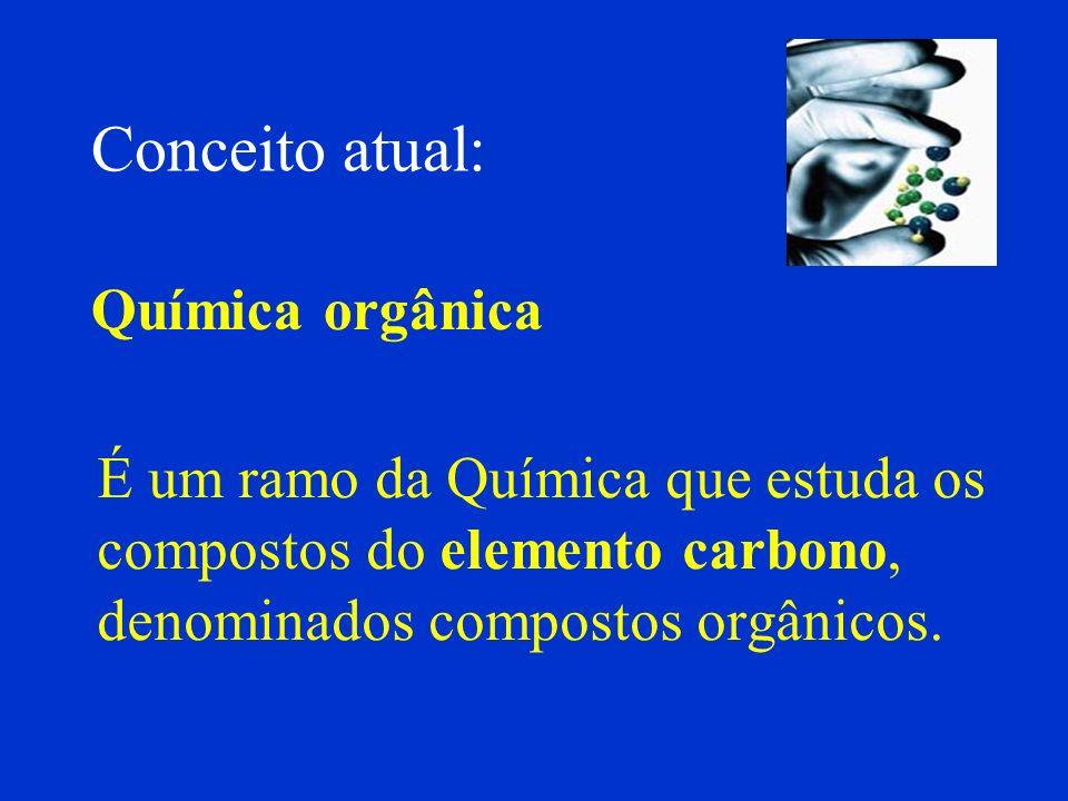 Conceito atual: Química orgânica