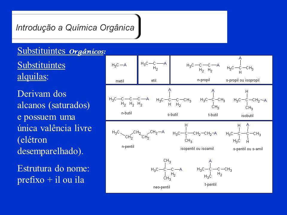 Substituintes Orgânicos: