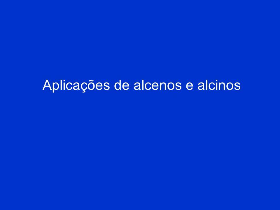 Aplicações de alcenos e alcinos
