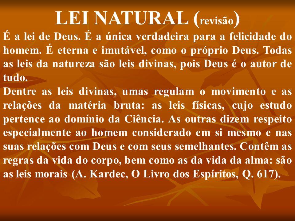 LEI NATURAL (revisão)