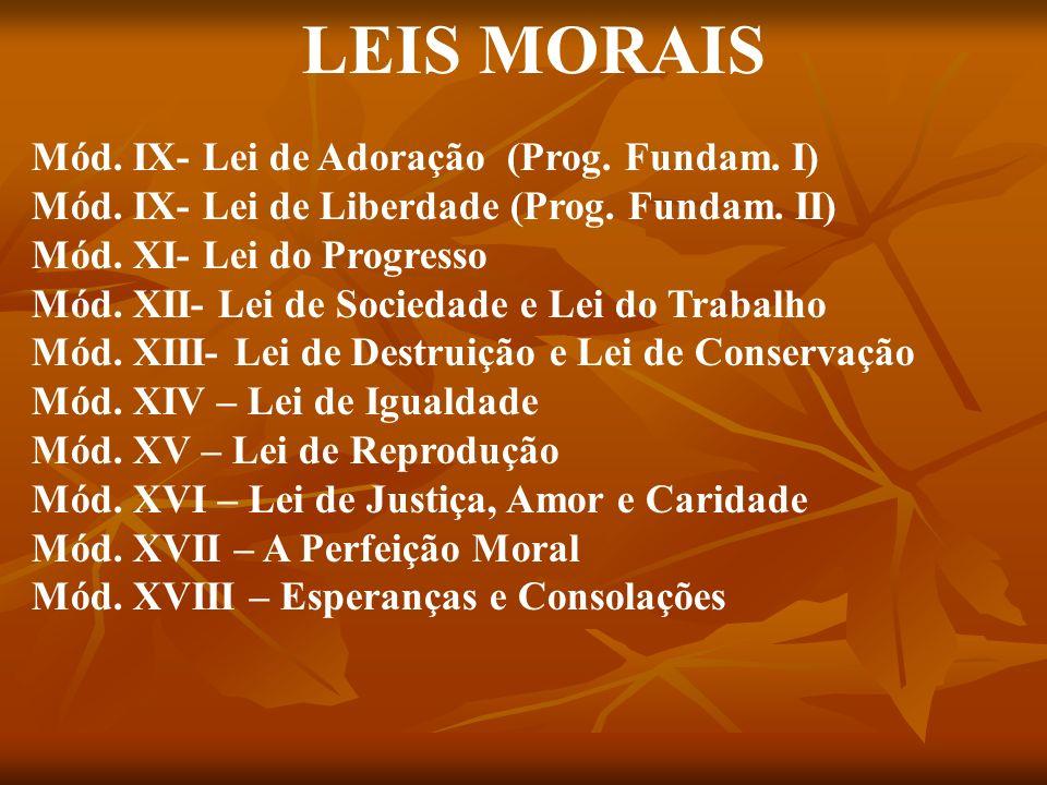 LEIS MORAIS Mód. IX- Lei de Adoração (Prog. Fundam. I)