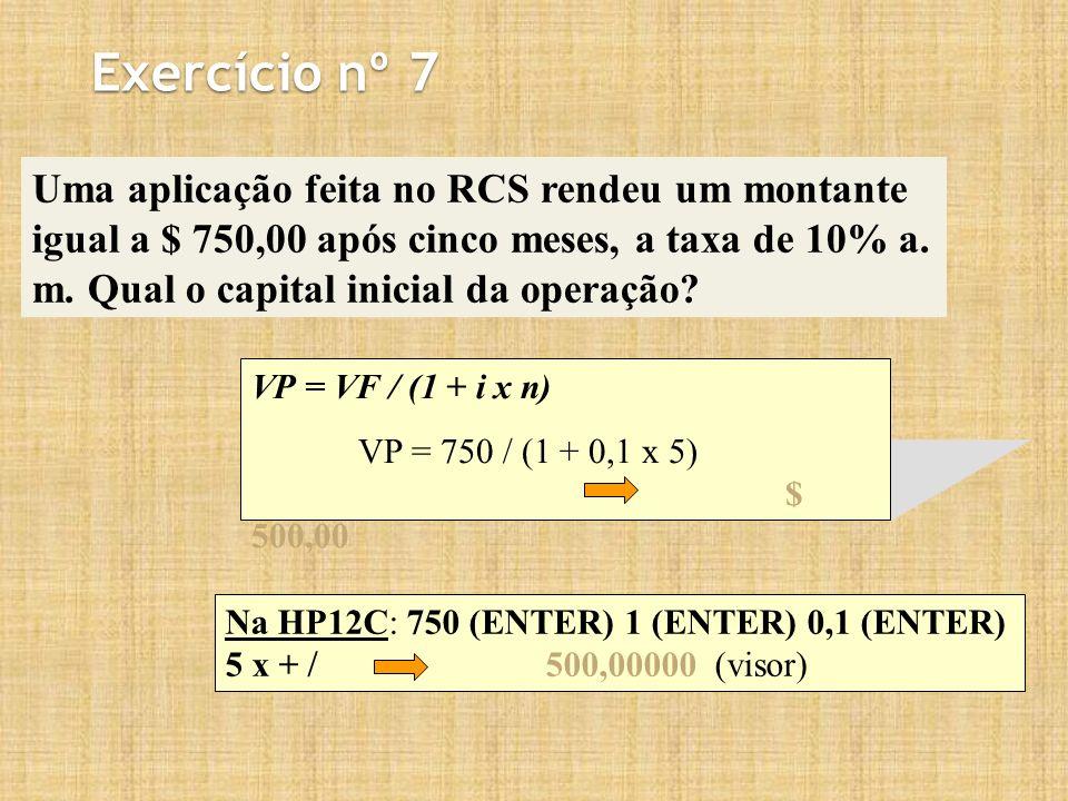 Exercício nº 7