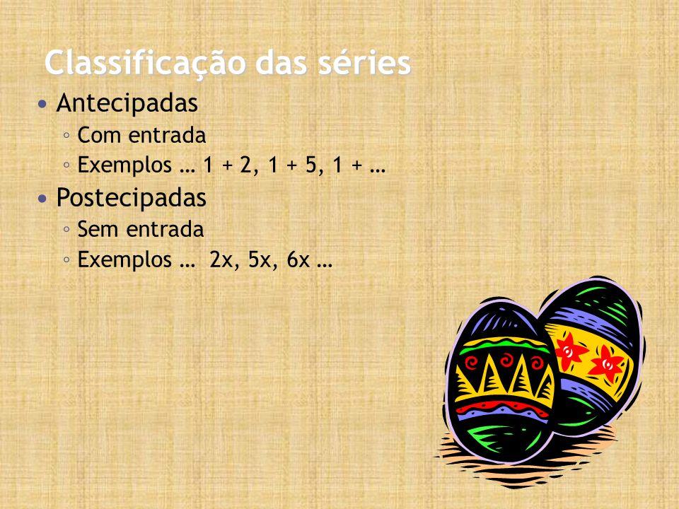 Classificação das séries