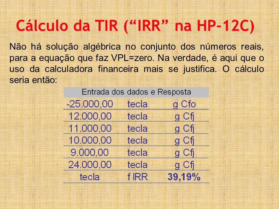Cálculo da TIR ( IRR na HP-12C)