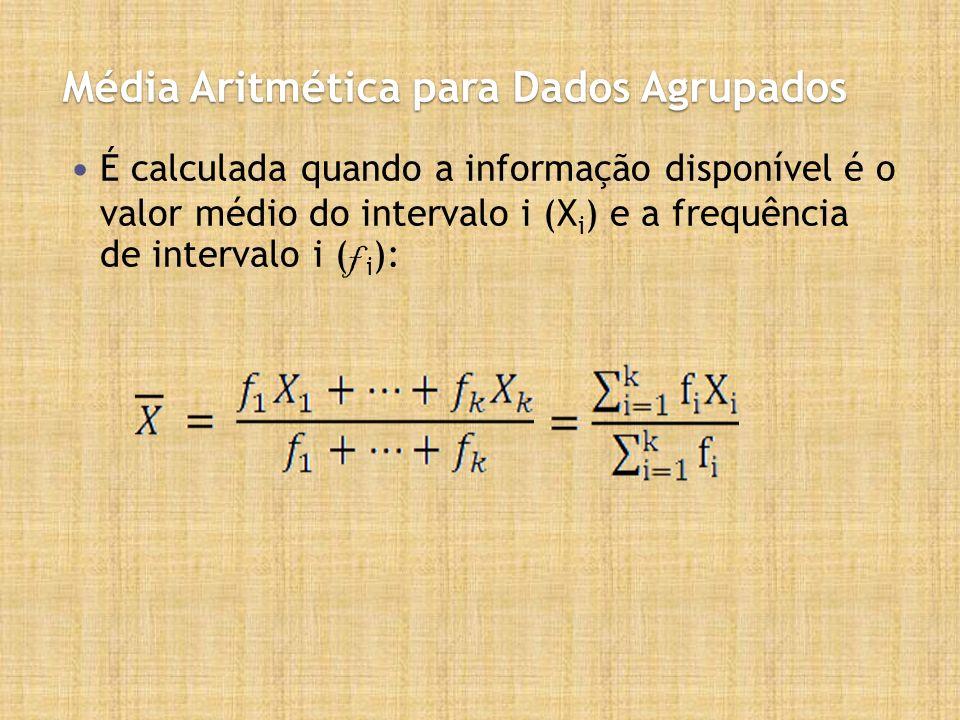 Média Aritmética para Dados Agrupados