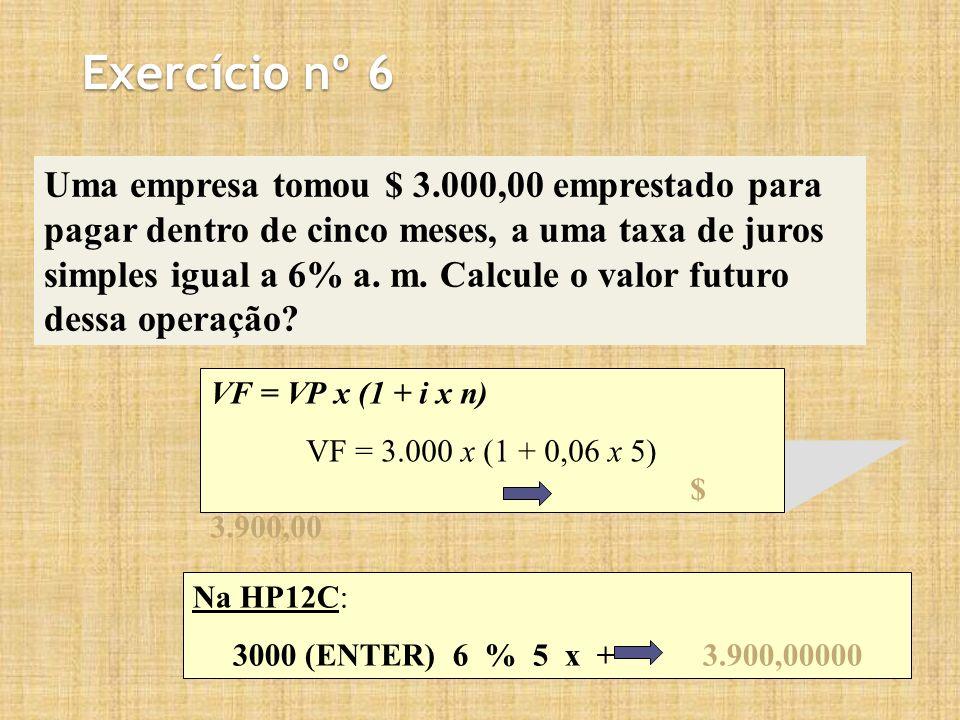Exercício nº 6