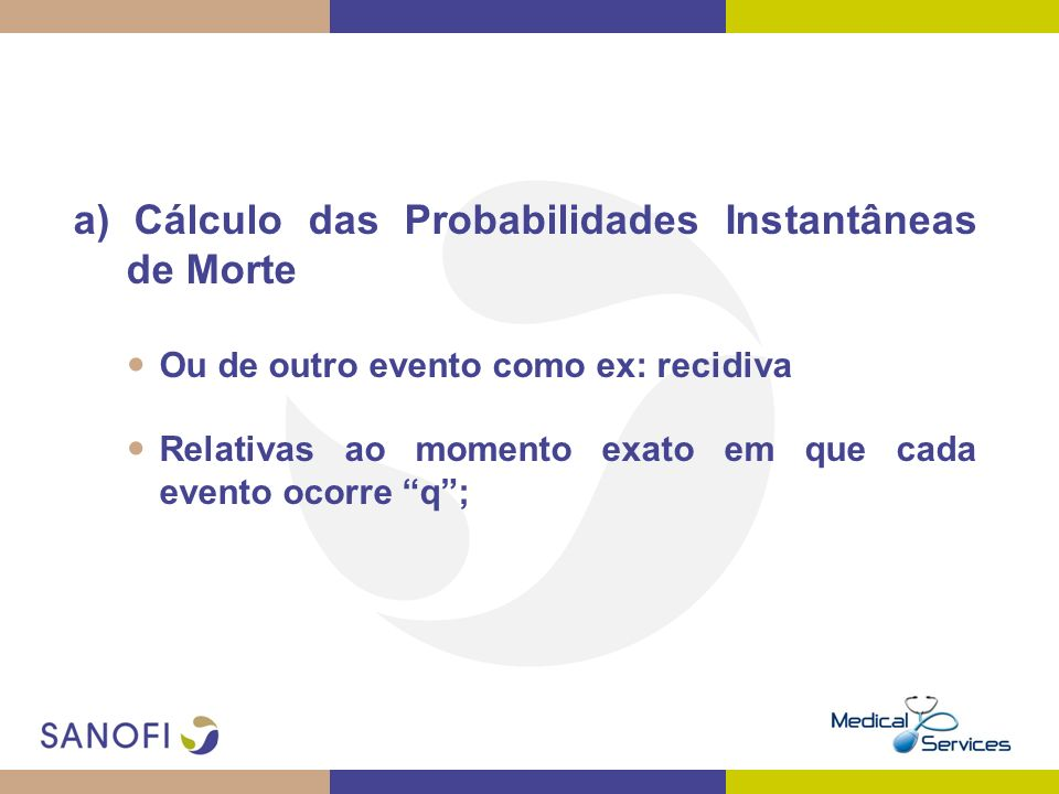 a) Cálculo das Probabilidades Instantâneas de Morte