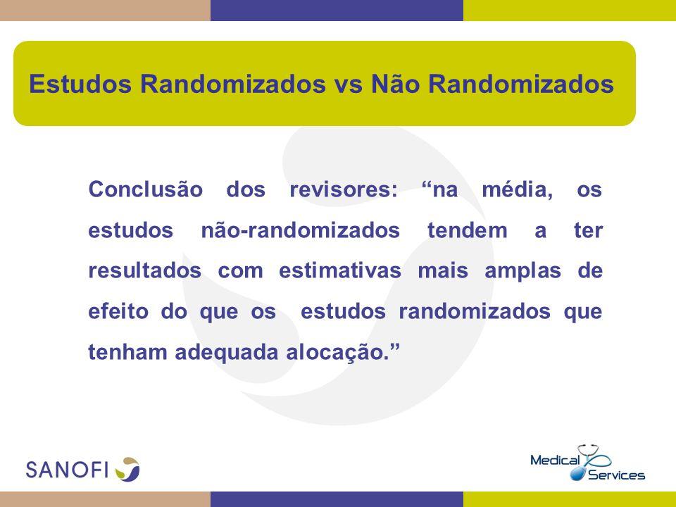 Estudos Randomizados vs Não Randomizados