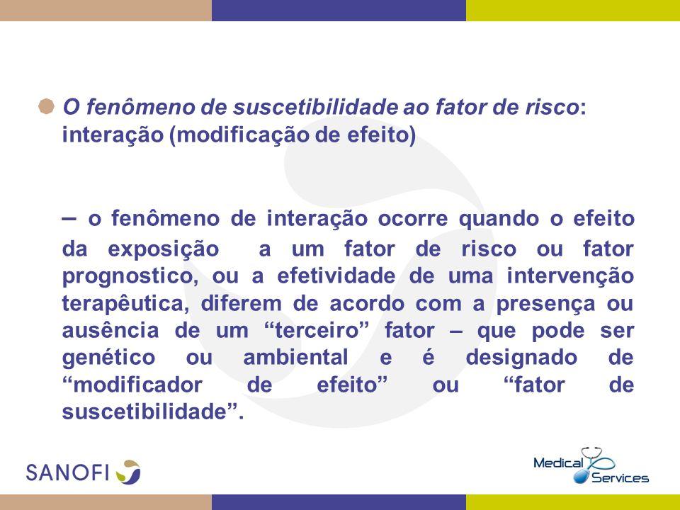 O fenômeno de suscetibilidade ao fator de risco: interação (modificação de efeito)