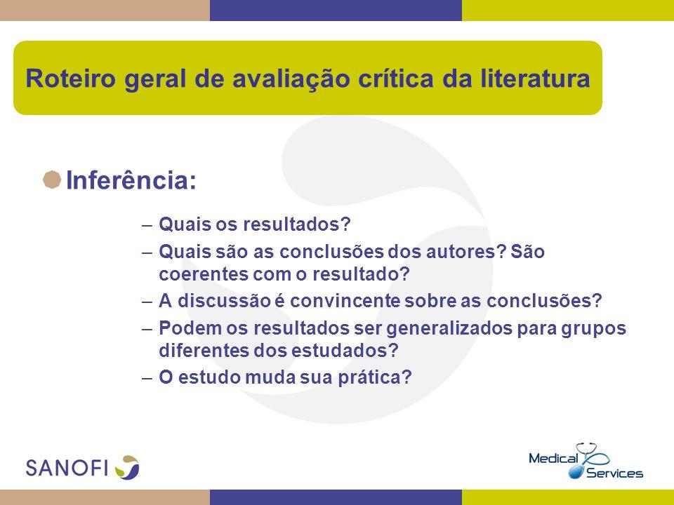 Roteiro geral de avaliação crítica da literatura