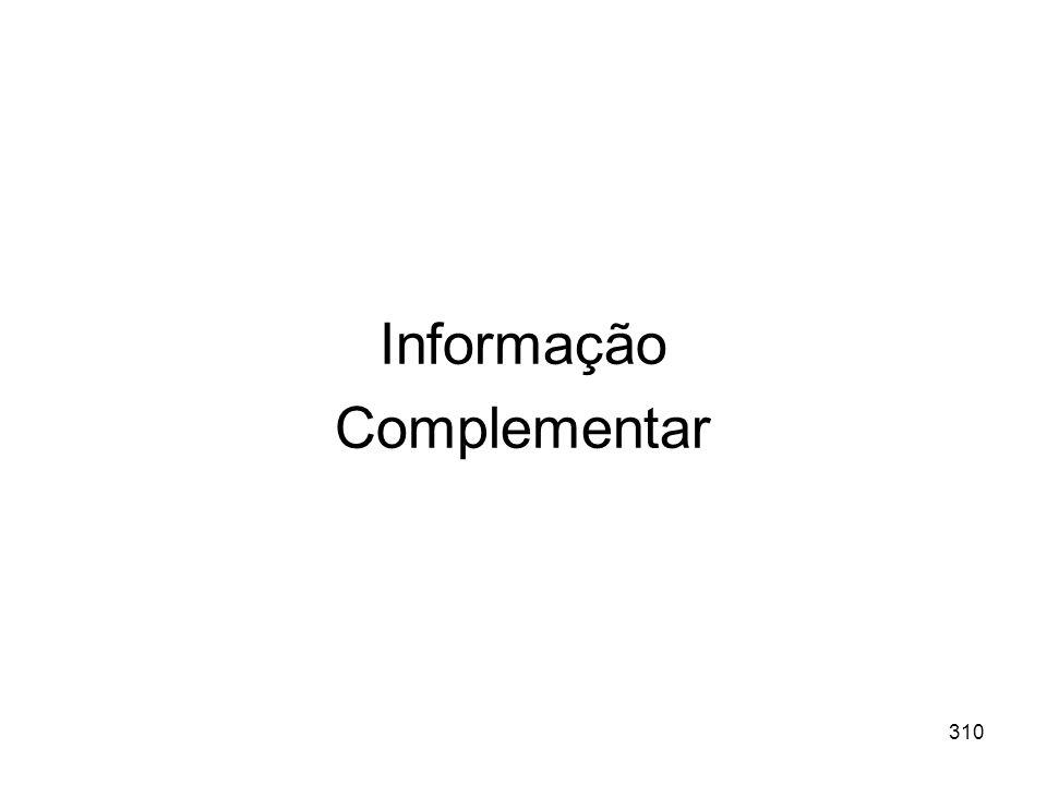 Informação Complementar
