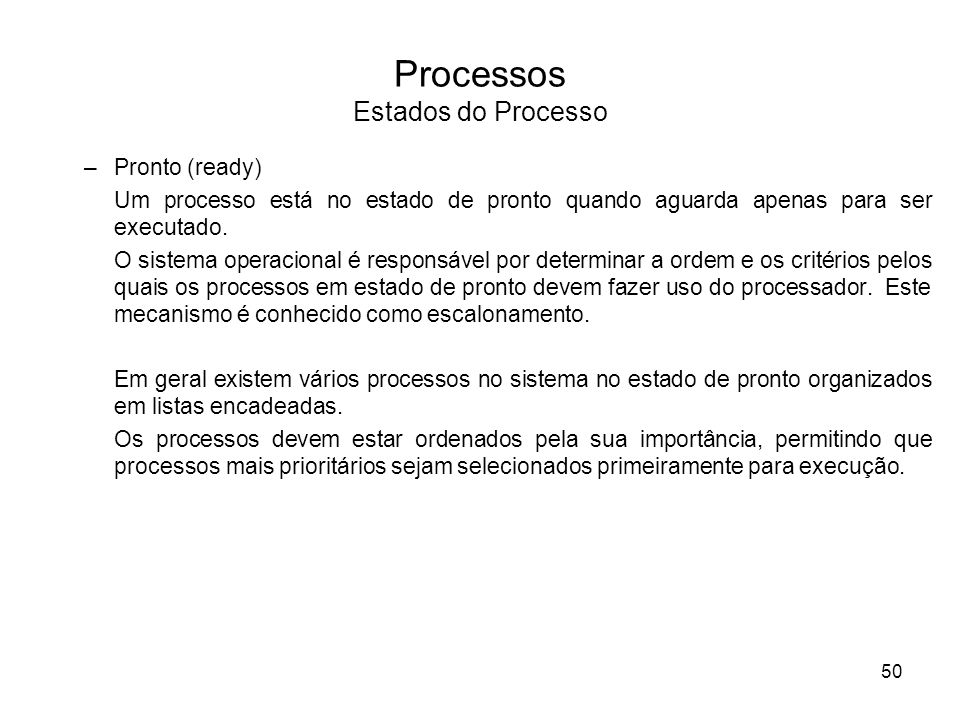 Processos Estados do Processo