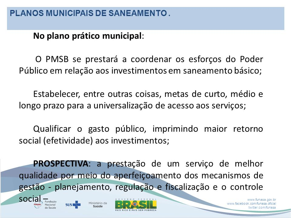 No plano prático municipal:
