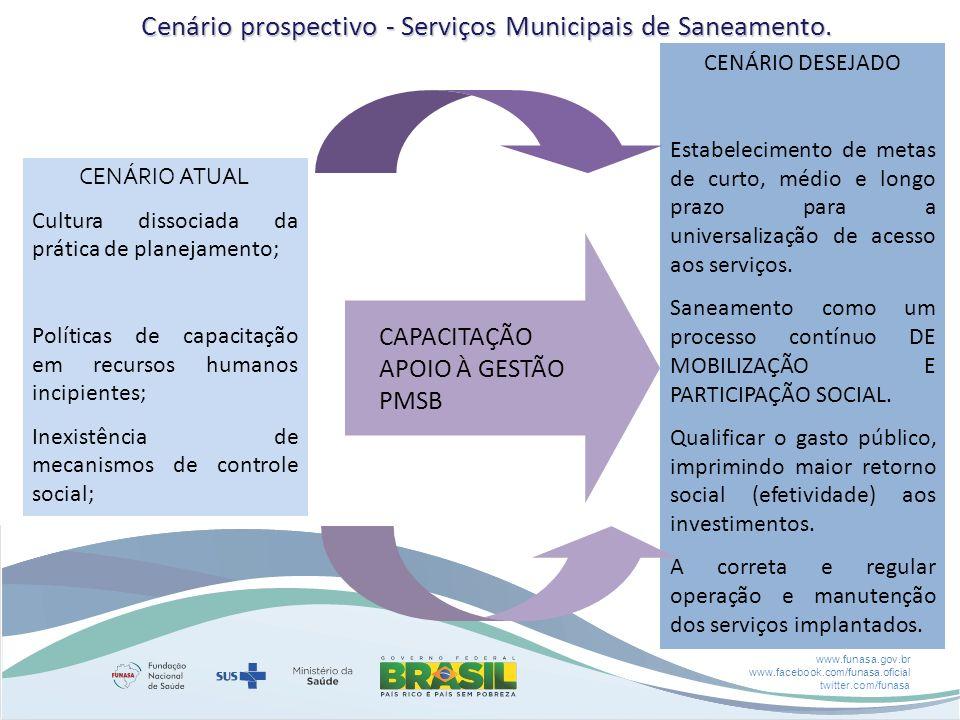 Cenário prospectivo - Serviços Municipais de Saneamento.