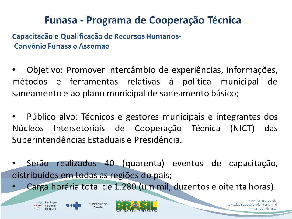 Funasa - Programa de Cooperação Técnica