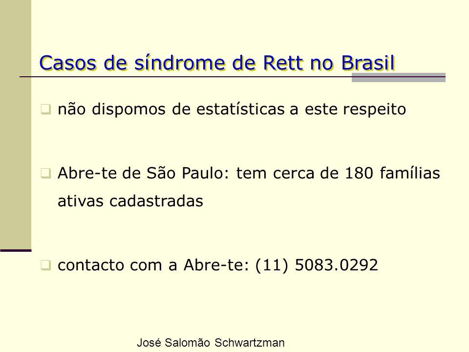 Casos de síndrome de Rett no Brasil